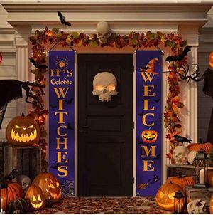 HalloweenDecorationsOutdoor-WelcomeIT'SOctoberWitchesLargeBannersPorchSigns-WitchDecorforHomeOutsideDoorYardGardenParty for Sale in Grand Prairie, TX