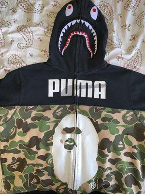 Puma x Bape Zip up medium shark for Sale in Bronx, NY