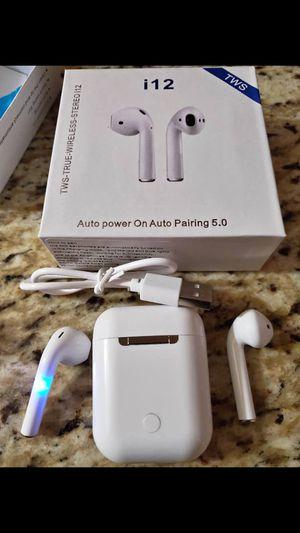 Brand New Bluetooth 5.0 Wireless Earbuds headset i12 for Sale in Newark, NJ