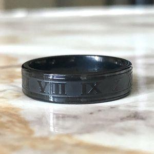 Black Roman Numerals Ring Size 7/8/9/11/12 for Sale in Fresno, CA