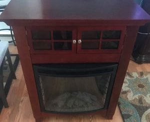 Faux fireplace n tv stand for Sale in North Chesterfield, VA