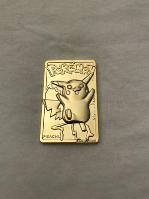 Nintendo Pokémon Pikachu Gold Plated Made In Year 1999 Great Condition $20. Charizard Acceptable Condition $10 for Sale in Reedley, CA