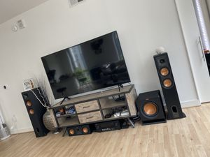 Klipsch Speaker Setup w/ Pioneer elite receiver for Sale in Washington, DC