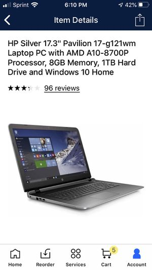 Hp laptop for Sale in Kernersville, NC
