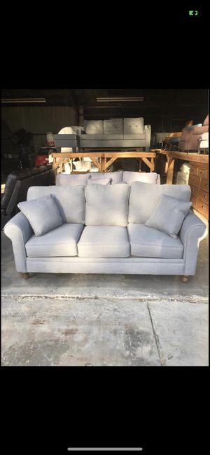 (New) KFI Cotton Blue Twill Sofa for Sale in Clovis, CA