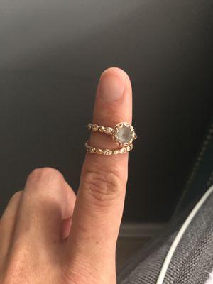 Aquamarine wedding ring set for Sale in Annandale, VA
