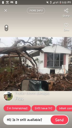 3 bedroom mobile home 2 bath needs repaired due to hurricane for Sale in Panama City, FL