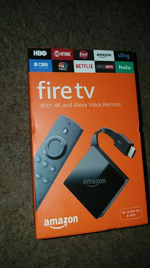 New Amazon fire Tv with 4k and Alexa voice remote for Sale in Capitol Heights, MD