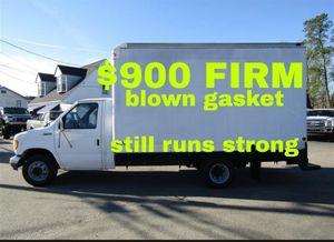 95 e350 box truck Uhaul blown head gasket runs good for Sale in Stockton, CA