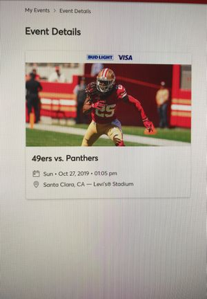 49ers vs. Panthers, 4 tickets, Sunday 10/27 at 1:05pm for Sale in Hayward, CA