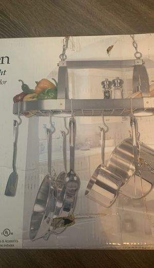 Kitchen Pot Rack with down light for Sale in Fairfax, VA