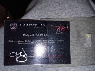 Manny Pacquao Autogragh for Sale in Las Vegas,  NV