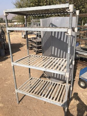 Storage racks metal shelves garage organize for Sale in Riverside, CA