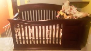 Graco brand solid cherry wood crib and changing table asking $300 obo for Sale in Quakertown, PA