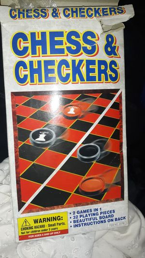 Chess and checkers board game for Sale in Chicago, IL