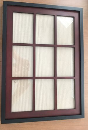 Photo frame: glass holds 9 photo for Sale in Fort Myers, FL