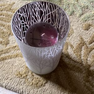 Candle Pillar Holder And Cranberry Fig Candle for Sale in Spring, TX