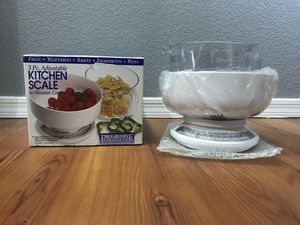 Progressive International 5 Lb Kitchen Scale with Removable Bowl and Measuring Cup for Sale in Glendale, AZ