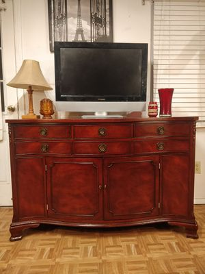 """Solid wood MORGANTON buffet/TV stand with drawers, all drawers working well dovetail drawers. L56""""*W22""""*H36"""" for Sale in Annandale, VA"""