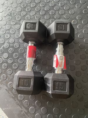 Rubber dumbbells 15 lbs for Sale in Orlando, FL