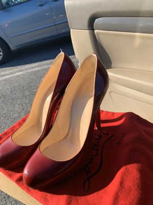 christian louboutin neofilo 120 patent rouge heels (red bottoms) for Sale in Brandywine, MD