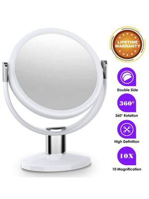10x Magnifying Makeup Mirror, Double Sided Makeup Vanity Mirror 360 Degree Swivel Rotation for Home Tabletop Bathroom Travel for Sale in Bonita Springs, FL