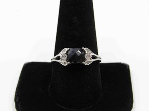 Size 10 Sterling Silver Sapphire & CZ Diamond Band Ring Vintage Statement Engagement Wedding Promise Anniversary Bridal Cocktail Friendship for Sale in Lynnwood, WA