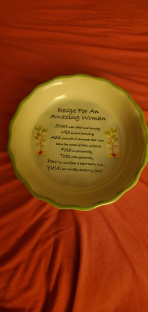 Pie plate for Sale in Chantilly, VA