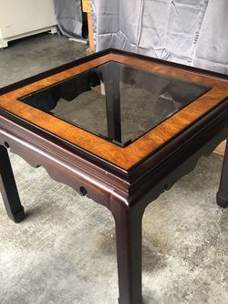 Wood And Glass Side Table for Sale in Vancouver,  WA
