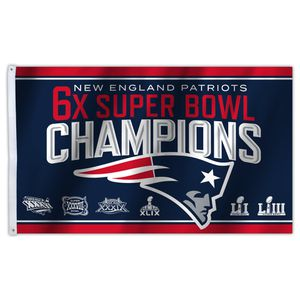 New England Patriots 6x Super Bowl championship flags for Sale in Attleboro, MA