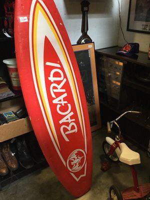 """Bacardi advertising foam surfboard sign 65"""" for Sale in Goodyear, AZ"""