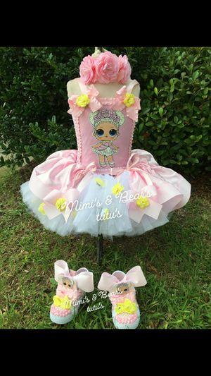 Flower girl lol tutu dress for Sale in Del Valle, TX