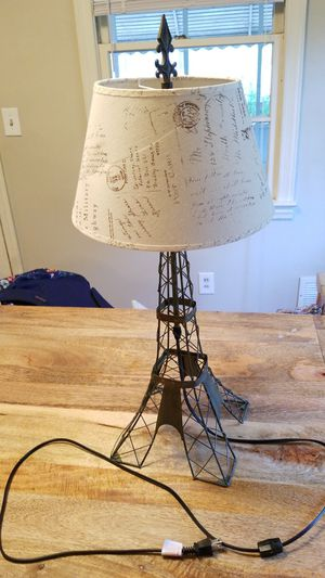 Paris Lamp (Eiffle Tower) for Sale in Greenville, SC