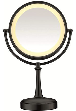 Conair 3-Way Touch Control Double-Sided Lighted Makeup Mirror - Lighted Vanity Makeup Mirror; 1x/7x magnification; Matte Black Finish for Sale in Pittsburgh, PA