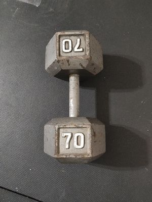 70lb dumbbell for Sale in Chicago, IL