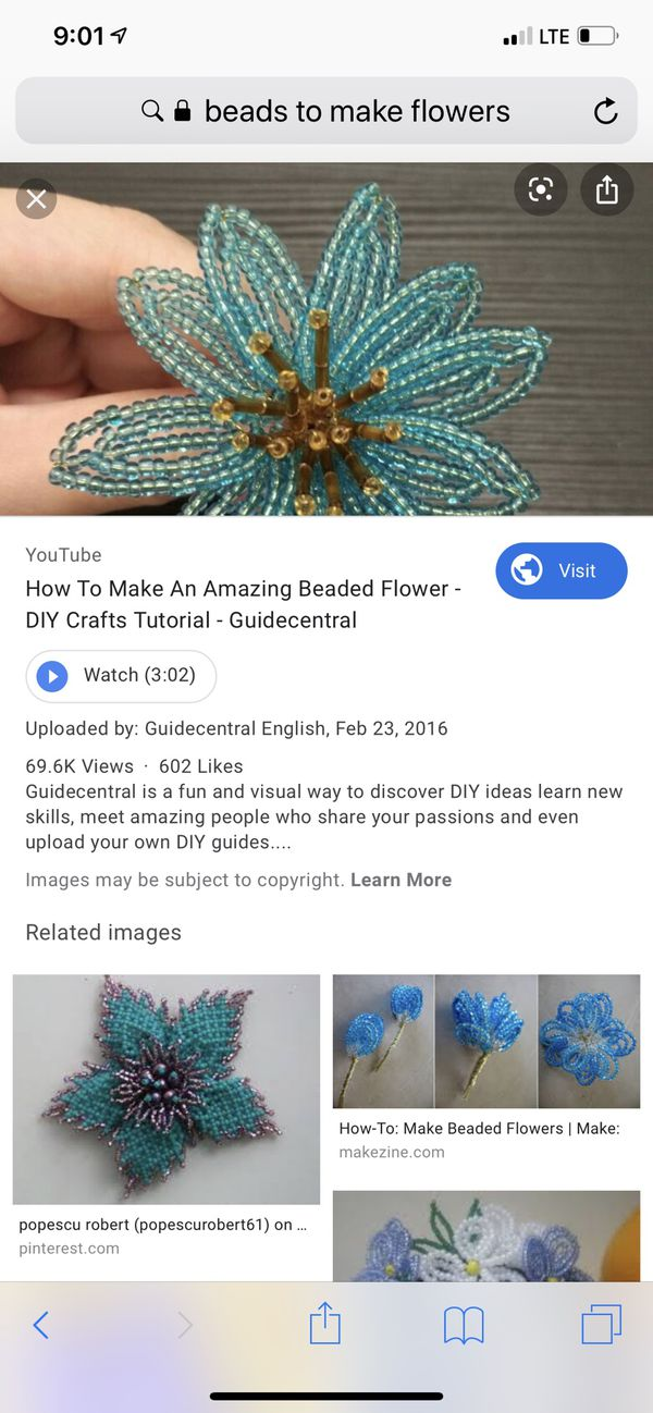 Beads to make flowers