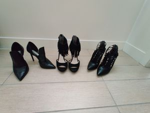 Women's high heels black (sold as set or individually) for Sale in Orlando, FL