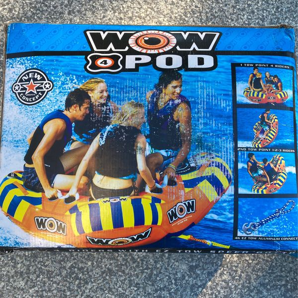 """Wow4Pod Inflatable Tube, 62""""x62"""", Sits Four"""
