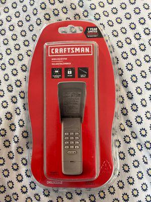 CRAFTSMAN Wireless Rolling Code Garage Door Opener Keypad CMXZDCG440 for Sale in Haledon, NJ
