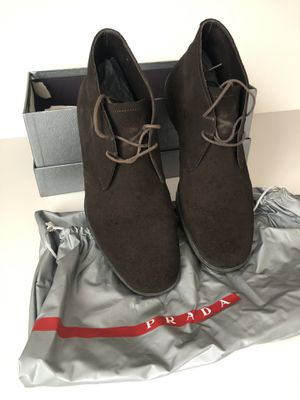 Prada men's shoes, size 6, authentic made in Italy, good used condition for Sale in Deerfield Beach, FL