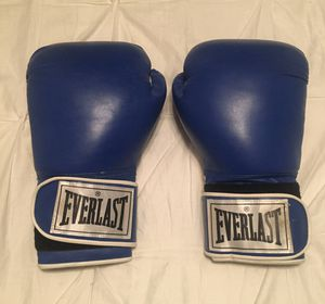 Everlast 16 Ounce Boxing Gloves Blue/White EXCELLENT Condition. for Sale in Peoria, AZ