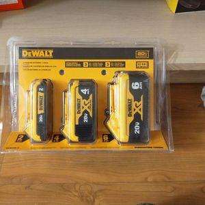 Dewalt Lithium Ion Batteries 3 Pack 20 v for Sale in Costa Mesa, CA
