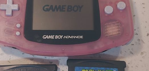 Nintendo Game Boy Advance (AGB-001, Fuchsia Pink) + 2 Games for Sale in Bellevue,  WA