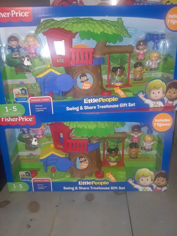 Little people swing & share tree house gift set