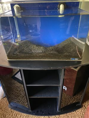 TRUVU fish tank + Stand + FLUVAL 206 filter + Subtrate for Sale in Tigard, OR