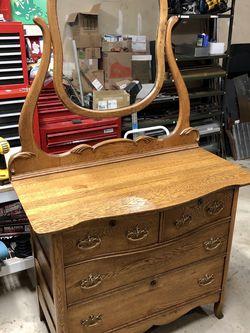 Antique Victorian Oak Dresser for Sale in Laurel,  MD