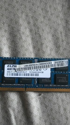Elpida 4gb ddr3 laptop ram for Sale in Laurel, MD