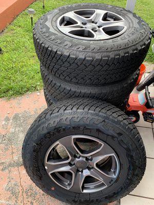 2019 Jeep Wrangler Rims New wheels with New Bridgestone tires for Sale in Miami, FL