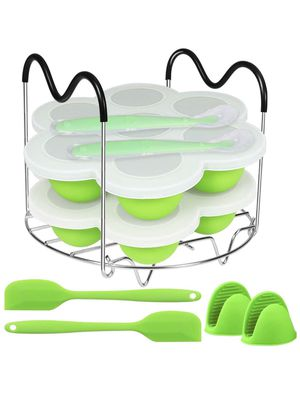 Silicone Egg Bites Molds and Steamer Rack Trivet with Heat Resistant Handles Compatible for Sale in Chicago, IL