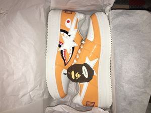 A Bathing Ape BAPE Orange Shark Bapesta Size 11 for Sale in Annandale, VA